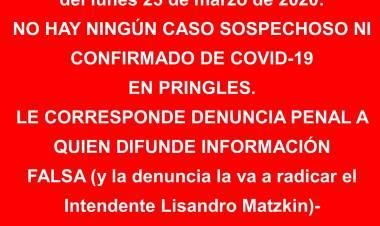 El Intendente Lisandro Matzkin denunciará la publicación de denuncias falsas